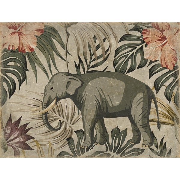 ELEPHANT IBISCUS(120x90cm)