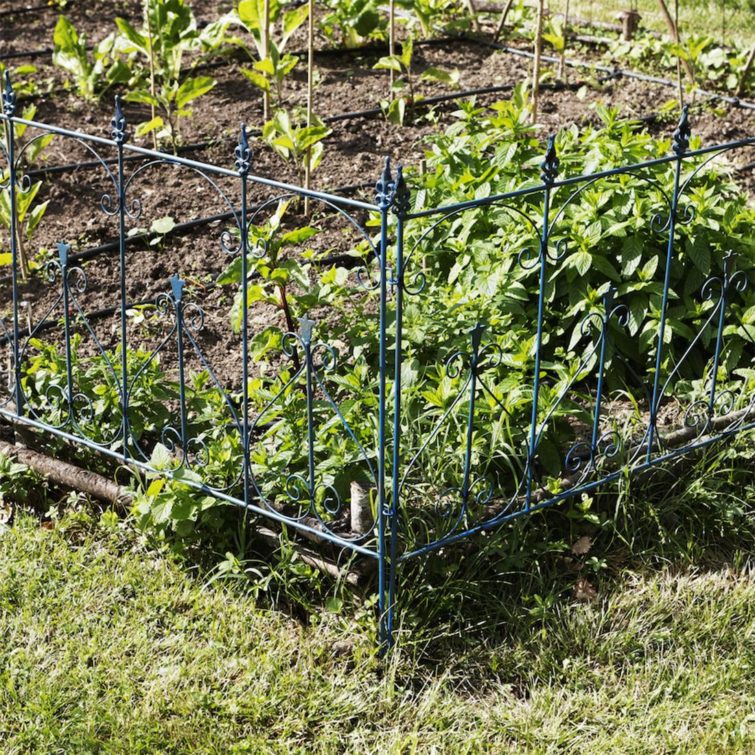 Set de 4 bordures de jardin vilandry bleues for Set de jardin