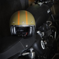 Casque jet GOODWOOD kaki
