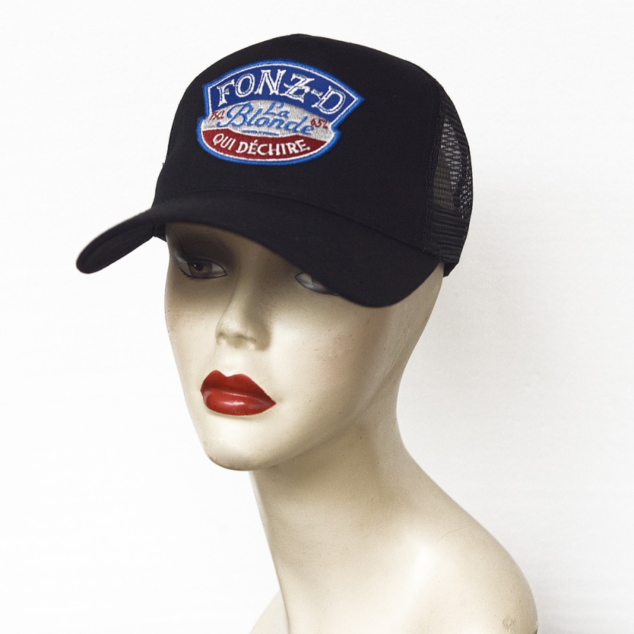 Casquette trucker FONZ-D noire