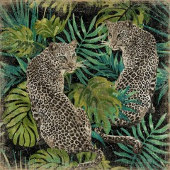 LEOPARDS JUNGLE (120x120cm)