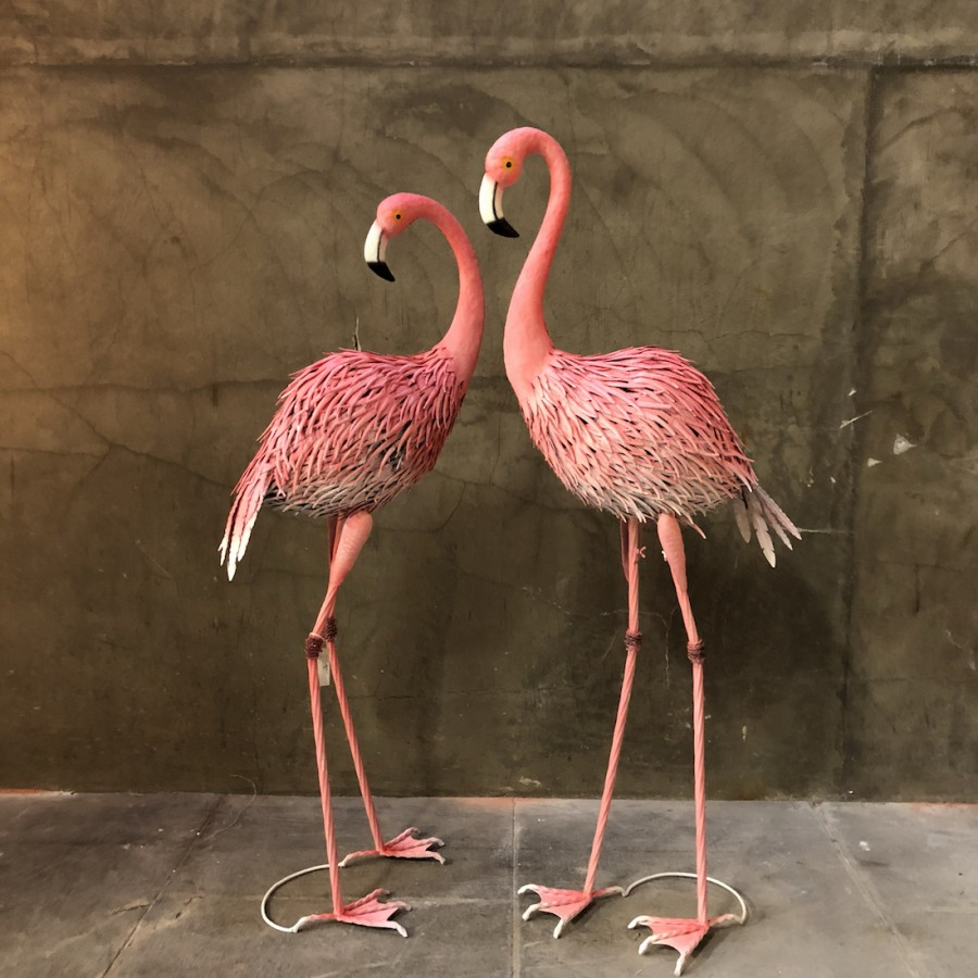 Set 2 FLAMANTS ROSES H160cm
