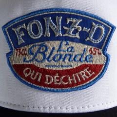 Casquette trucker FONZ-D blanche
