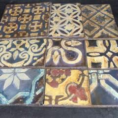 Set 9 plaques FLORA
