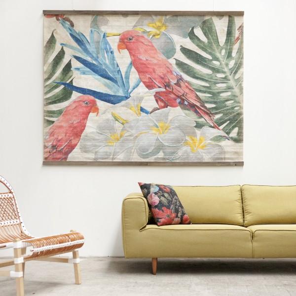 PERROQUETS FLEURS (150x200cm)