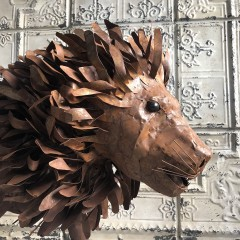 LION METAL RUSTY H100cm