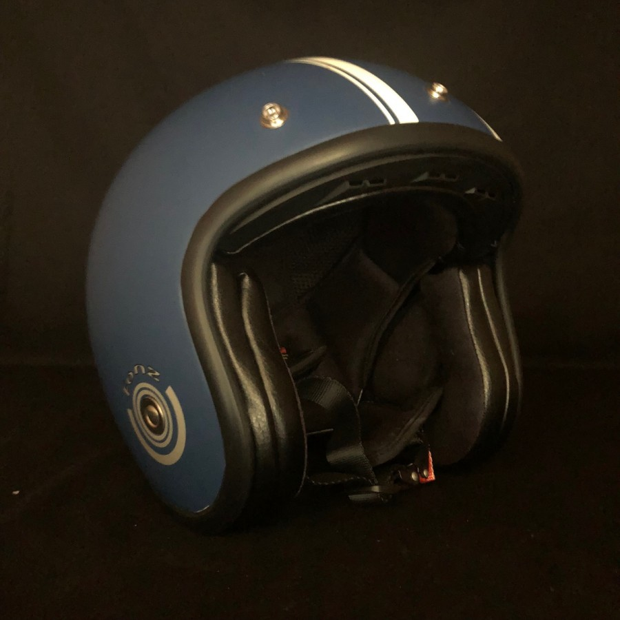 Casque jet GOODWOOD bleu