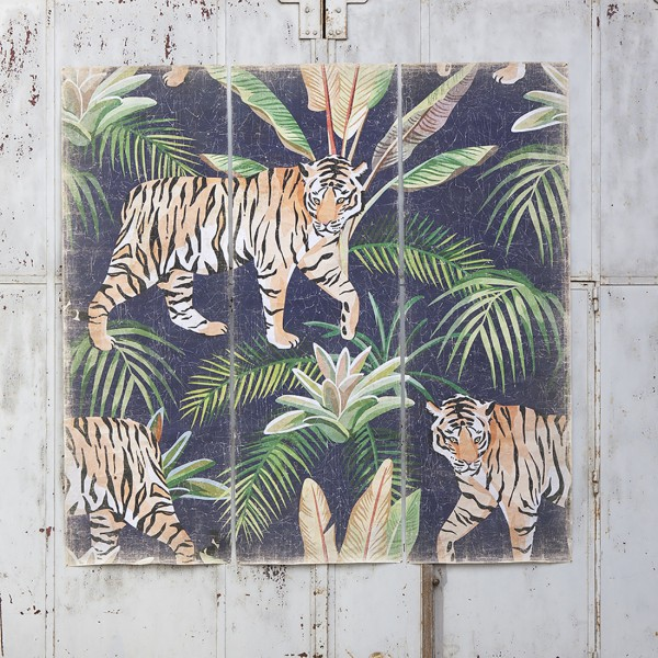 Triptyque TIGRE JUNGLE (250x250 cm)